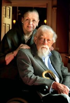 The late Earl and Countess of Harewood, pictured in 2010 for an article in Yorkshire Life. As a boy, the Earl lived at Goldsborough Hall throughout the 1920s
