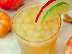 Sparkling Apple Cider Margarita © WickedGoodKitchen.com #apple #cider #cocktail #recipe