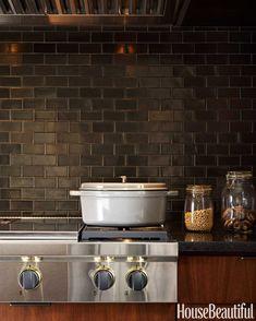 Designing a Modern Kitchen backsplash tile, black backsplash, curat, kitchen backsplash, black knob, hous, subway tiles, modern kitchens, heath ceramics backsplash