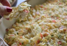 Hot and Cheesy Crab and Artichoke Dip - Serve this with baked chips and you have the perfect appetizer for a party.