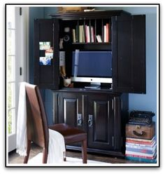 Creating An Office In Armoire