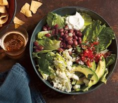 Taco Salad With Pinto Beans and Avocado recipe