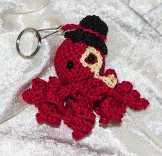 Amigurumi Crochet Keychain Steampunk Octopus