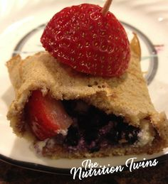 Fruity Protein Crepes | Satisfy Sweet & Savory Craving for Just 132 Calories | Protein-Packed | For MORE RECIPES please SIGN UP for our FREE NEWSLETTER www.NutritionTwins.com
