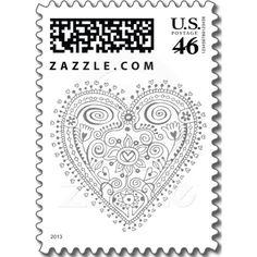 Heartflower (Grey) Postage