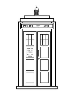 TARDIS - Colouring Coloring Page- Doctor Who by =VioletSuccubus on deviantART
