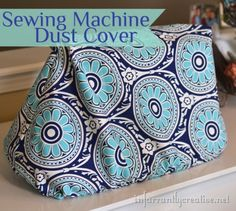 Sewing machine dust cover with HGTV fabrics from Joann Fabrics