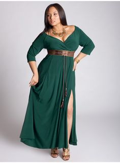 Rebecca Gown in Evergreen >> Gorgeous!