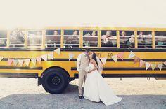 @Jessica Olivero: another school bus wedding ... cute shot