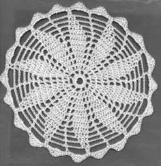 flowerdoily - free pattern by crochetpatty. Difficulty: easy/medium