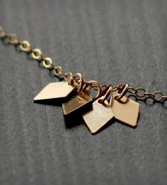 Gold Diamonds Tag Necklace