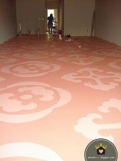 stenciled floors!!!!!