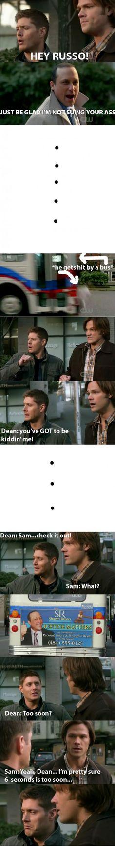 Too soon Dean…