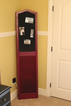 DIY shutter, picture board. by tyson french