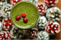 Cranberry spice green smoothie