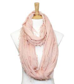 pink scarf, cloth, accessori, infinity scarfs, dress, colors, closet, scarv, blush
