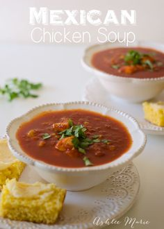 nothing is better on a cold fall day than Soup, this mexican chicken soup is easy to make and tastes amazing, with chicken, garlic, cilantro and corn this is one everyone loves!