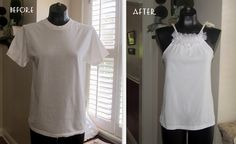Another old tee to cute tank TUTORIAL.
