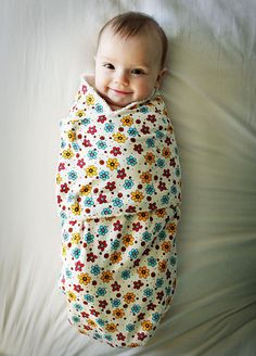 Swaddling pattern-that baby looks so happy!!!