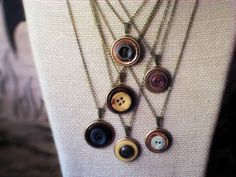 ring jewelri, button ring, button necklaces, buttons, making button jewelry