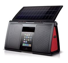 Be Green! These speakers run on electricity, battery, or solar power.