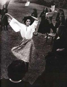 A Romani gypsy dancing.