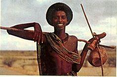 Nomad in the desert in Somalia