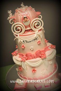 Princess Cake princess carriage cake - Google Search girls party birthday cake cinderella
