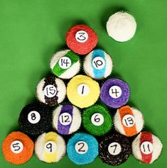 Billiard Ball Cupcakes » With Sprinkles on Top..  Perfect for David's birthday...