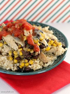 5-Ingredient Southwest Chicken Rice Bowls: An easy dinner the whole family will love!