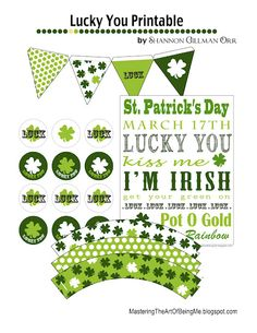 St Patricks Day Printables and Labels
