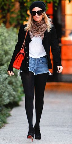 Nicole Richie can do no wrong - tights with booties
