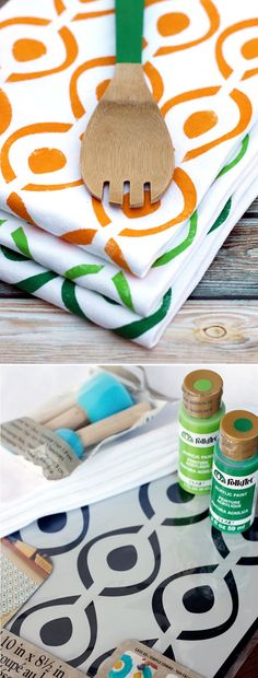 Folk Art Tea Towels
