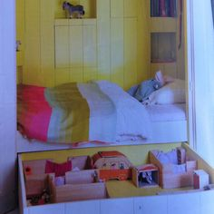 Cute idea - love the dollhouse in the drawer