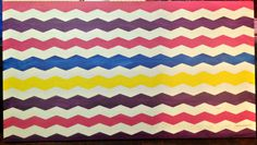 DIY Easy Painted Chevron Headboard #ShapeTape