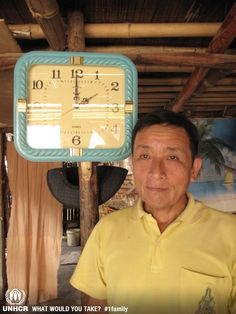 """The most important thing that Chief  Maung Bia brought with him when he fled were his people. """"However, there is one thing I realized a few days ago,  this wall clock has fled and been with me over 17 years. It keeps running no matter where it is and no matter what happens.  I also have to keep living my life no matter what happens.""""   - Maung Bia  from Thailand    - Visit 1family: http://www.unhcr.org/1family"""
