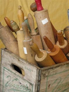 What a nice collection!  I collect old rolling pins