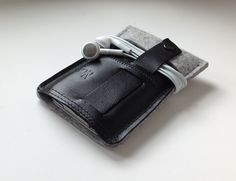 iPhone Case-wool felt and leather