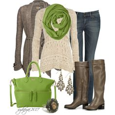 fashion clothes, green bag, style, green accent, dress, closet, women's jeans, bags, fall winter outfits