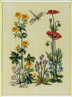 Wildflowers вышивка