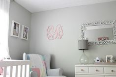 Soft Gray and Pink Nursery