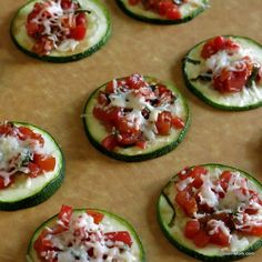 """Zucchini Bruschetta: """"I'm pretty sure zucchini can do just about anything. Act like a noodle? Yup. Hide in a moist brownie? Check. Crisp up like a chip? Absolutely. So, it was no surprise to me that it was spectacular in place of bread in zucchini bruschetta!"""" - The Dinner Mom"""