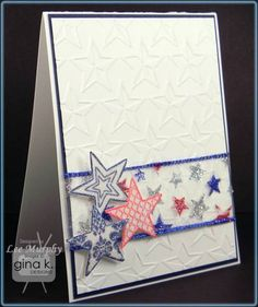 Using Tami Mayberry's Stars stamp set and of course some sparkle!