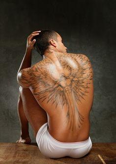 tattooed male back