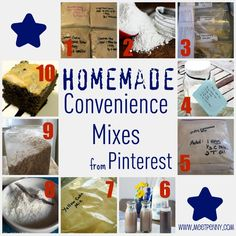Homemade Convenience Mixes...easy and the savings can really add up!...bisquick mix, yellow cake mix, hamburger helper, chocolate syrup and a few others