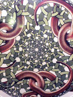 Ring Snakes, 1952, MC Escher