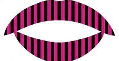 Pink & Black Lips  $10.00 www.naildolls.com