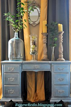 ReNew ReDo!: Pearly Blue and Silver Desk Redo