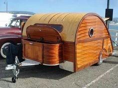 vintage woody tear drop rv picture. www.HelpSellMyRV.com Louisville Kentucky