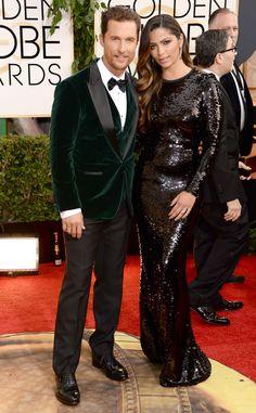 Matthew McConaughey & Camila Alves, both in Dolce and Gabbana.